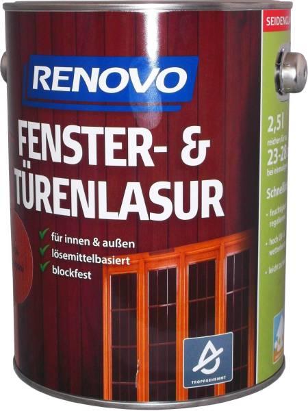 2,5l Renovo Fenster&Türenlasur Nr.8412 teak