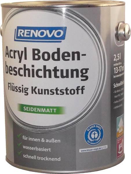 750ml Renovo Acryl - Bodenbeschichtung silbergrau